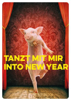 into new year Postkarte